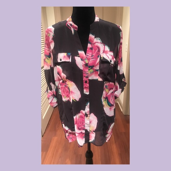 Candie's Tops - Sheer Floral Blouse